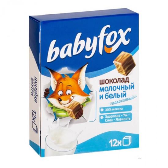 Шоколад детский BabyFox, молочный и белый, 90 г