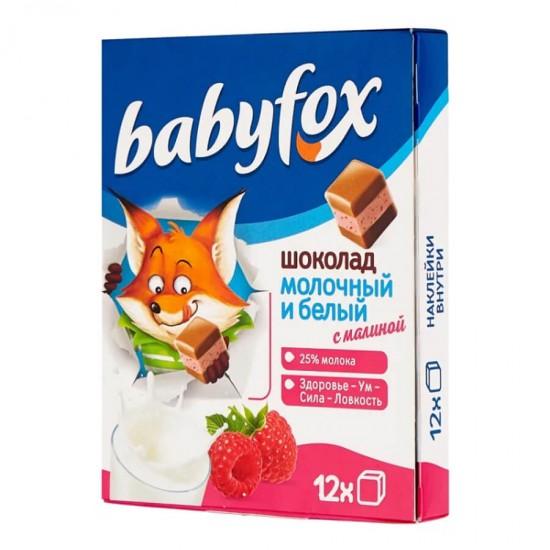 Шоколад детский BabyFox, молочный с малиной, 90г