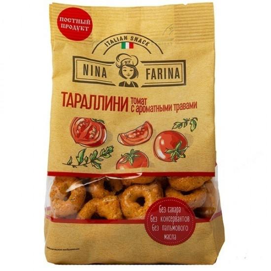Тараллини с томатом и ароматными травами Nina Farina, 180 г