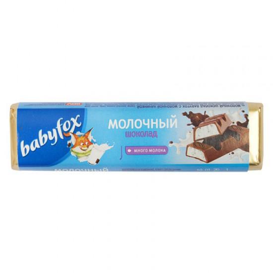 Шоколадный батончик BabyFox с молочной начинкой, 47 г