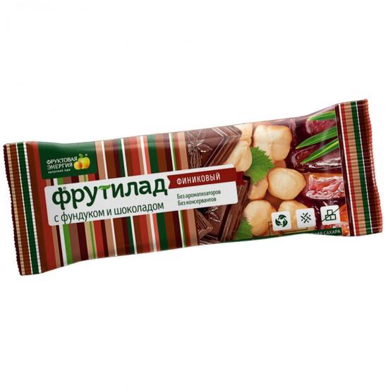 Финиковый батончик с фундуком и шоколадом 42г