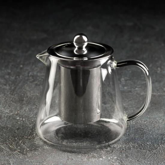 Чайник стеклянный Эгла с метал. ситом 600 мл