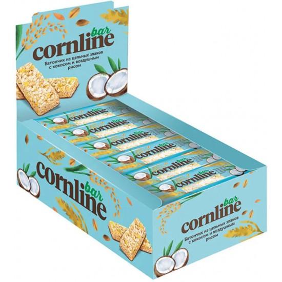 Батончик Cornline, из цельных злаков с кокосом и воздушным рисом, 30 г