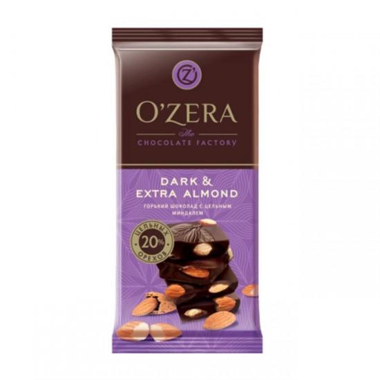 Шоколад горький с цельным миндалем Dark and Extra Almond, 90 г