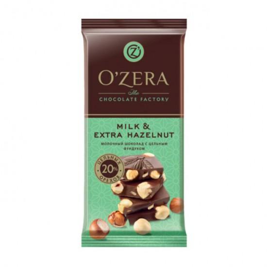 Шоколад молочный Milk & Extra Hazelnut, 90 г
