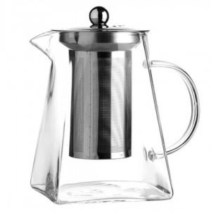 Чайник стеклянный с квадратным дном 900 мл