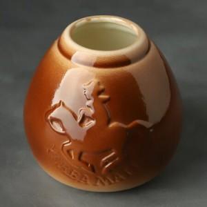 Калабас Гаучо керамика (коричневая)